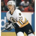 Boston Bruins (1989) Craig Janney wearing the Boston Bruins white uniform during the 1988-89 season