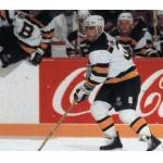 Boston Bruins (1992) Don Sweeney wearing Boston Bruins NHL 75th anniversary throwback jersey during 1991-92 season