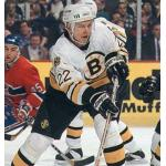 Boston Bruins (1995) Jozef Stumpel wearing Boston Bruins home white jersey during 1995 season