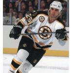 Boston Bruins (1996) Kevin Stevens wearing Boston Bruins road black jersey during 1995-96 season