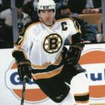 Boston Bruins (1998) Ray Bourque wearing Boston Bruins home white uniform during 1997-98 season