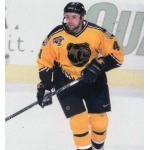 Boston Bruins (1999) Jason Allison wearing Boston Bruins gold alternate uniform with Bruins 75th Anniversary patch during 1998-99 season