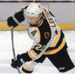 Boston Bruins (2006) Brian Leetch wearing Boston Bruins road white uniform during 2005-06 season