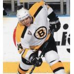 Boston Bruins (2004) Sergei Samsonov wearing Boston Bruins retro white uniform with NHL Vintage patch during 2003-04 season
