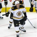 Boston Bruins (2008) Aaron Ward wearing the Boston Bruins road white uniform during the 2007-08 season