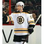 Boston Bruins (2012) Carter Camper in the Boston Bruins road white uniform during 2011-12 season