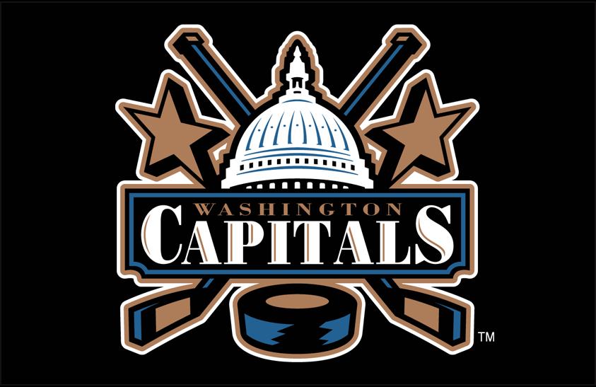 Washington Capitals Logo Primary Dark Logo (2002/03-2006/07) - Washington Capitals Capitol logo on black SportsLogos.Net