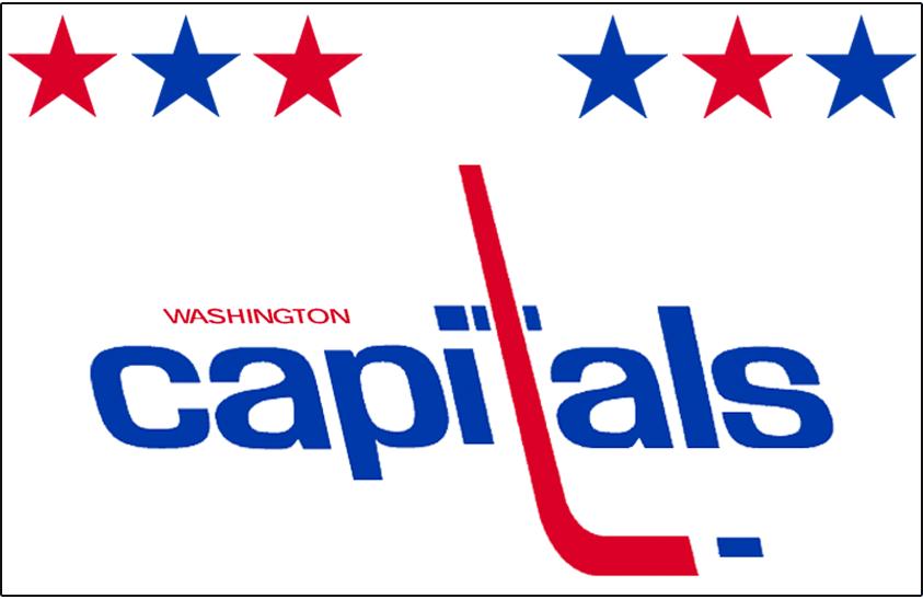 Washington Capitals Logo Jersey Logo (1980/81-1982/83) - Worn on Washington Capitals home white jersey from 1980-81 until 1982-83 SportsLogos.Net