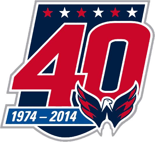 Washington Capitals Anniversary Logo National Hockey