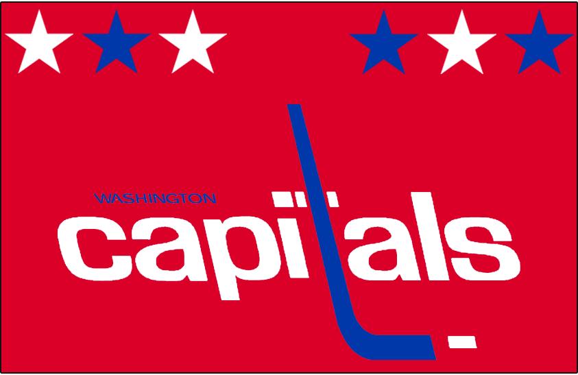 Washington Capitals Logo Jersey Logo (1980/81-1982/83) - Worn on Washington Capitals red away jersey from 1980-81 until 1982-83 SportsLogos.Net
