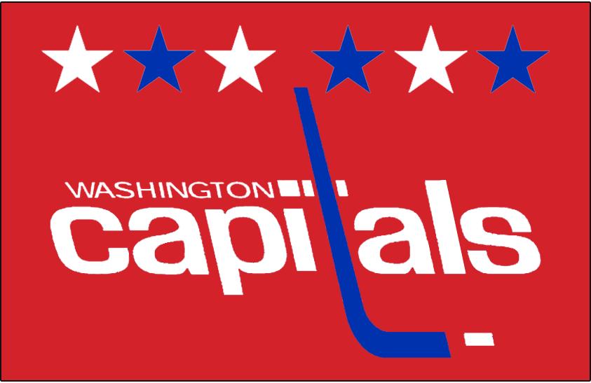 Washington Capitals Logo Jersey Logo (2018/19-Pres) - Retro Capitals logo on red, worn on Caps alternate uniform SportsLogos.Net