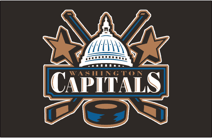 Washington Capitals Logo Jersey Logo (1997/98-2006/07) - Worn on Washington Capitals alternate black jersey from 1997-98 until 1999-2000, promoted to full-time road jersey in 2000-01. Worn until end of 2006-07 season SportsLogos.Net