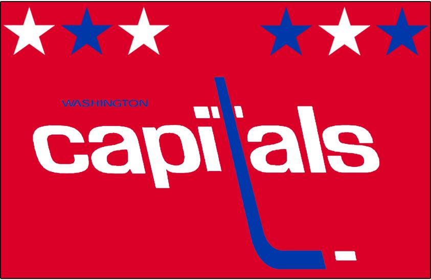 Washington Capitals Logo Jersey Logo (1983/84-1984/85) - Worn on Washington Capitals away red jersey from 1983-84 until 1984-85 SportsLogos.Net