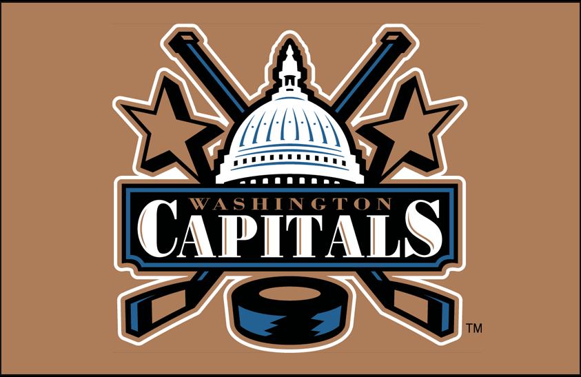 Washington Capitals Logo Primary Dark Logo (2002/03-2006/07) - Washington Capitals Capitol logo on gold SportsLogos.Net