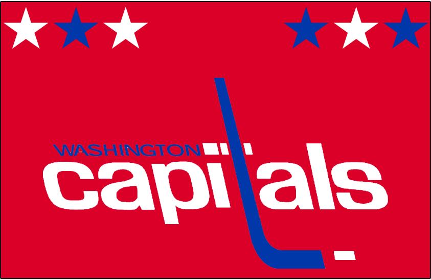 Washington Capitals Logo Jersey Logo (1974/75-1979/80) - Worn on Washington Capitals away red jersey from 1974-75 inaugural season until 1979-80 SportsLogos.Net