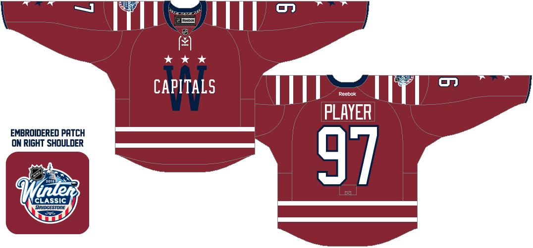 Washington Capitals Uniform Special Event Uniform (2014/15) - 2015 NHL Winter Classic jersey SportsLogos.Net