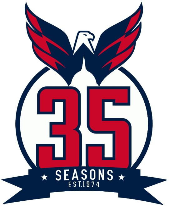 Washington Capitals Logo Anniversary Logo (2008/09-2009/10) -  SportsLogos.Net