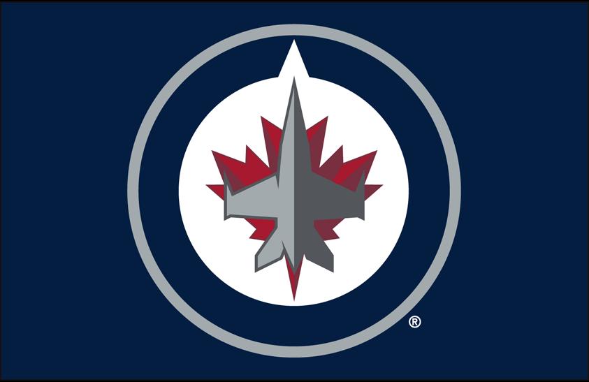 Winnipeg Jets Logo Primary Dark Logo (2011/12-Pres) - Winnipeg Jets primary logo on dark blue SportsLogos.Net