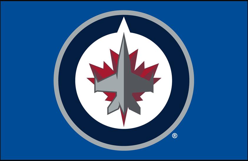 Winnipeg Jets Logo Primary Dark Logo (2011/12-Pres) - Winnipeg Jets primary logo on light blue SportsLogos.Net