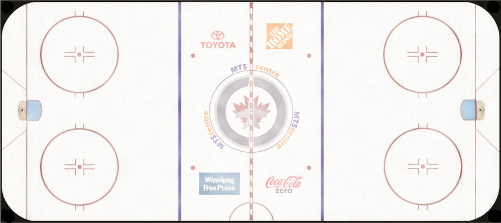 Winnipeg Jets Playing Surface Playing Surface (2011/12-2014/15) - MTS Centre ice surface SportsLogos.Net
