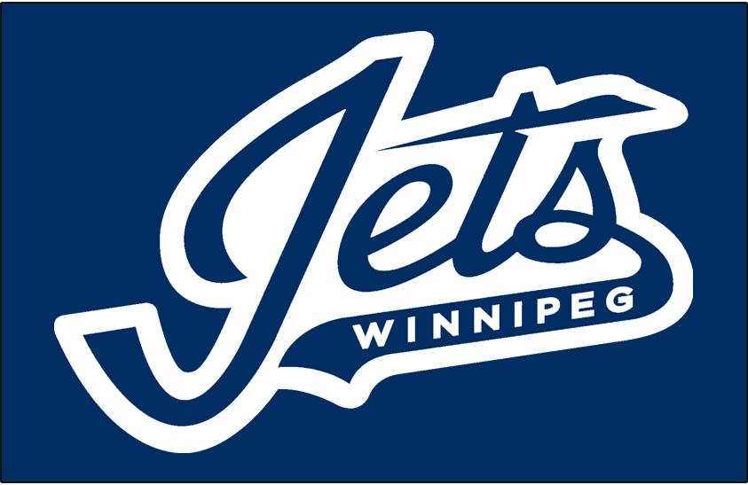 Winnipeg Jets Logo Wordmark Logo (2018/19-Pres) - On blue,