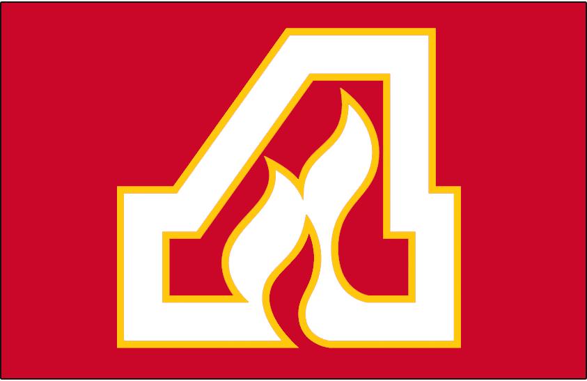 Atlanta Flames Logo Jersey Logo (1972/73-1979/80) - A white and yellow A on red, worn on Atlanta Flames road jersey from 1972-73 through 1979-80 SportsLogos.Net