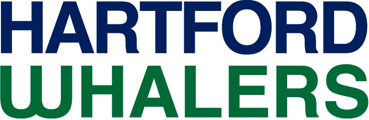 Hartford Whalers Logo Wordmark Logo (1992/93-1996/97) - Hartford Whalers in navy blue and green SportsLogos.Net