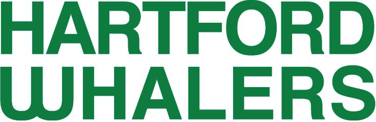 Hartford Whalers Logo Wordmark Logo (1979/80-1991/92) - HARTFORD WHALERS stacked in green SportsLogos.Net