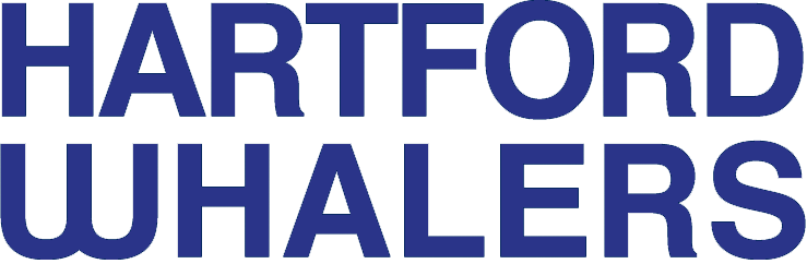 Hartford Whalers Logo Wordmark Logo (1979/80-1991/92) - HARTFORD WHALERS stacked in blue SportsLogos.Net
