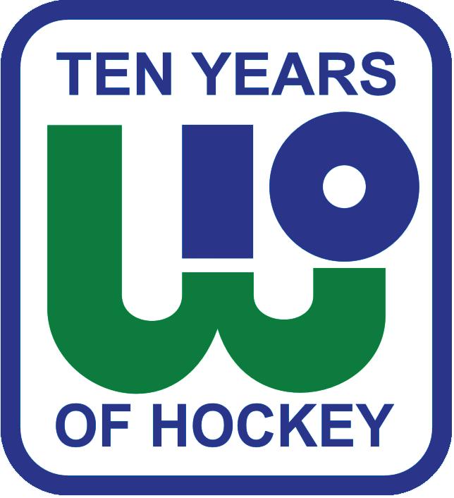 Hartford Whalers Logo Anniversary Logo (1981/82) - Hartford Whalers 10th Anniversary (including WHA) SportsLogos.Net