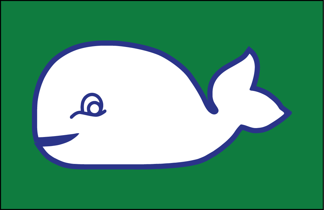 Hartford Whalers Logo Jersey Logo (1979/80-1984/85) - this version of the Pucky the Whale logo was worn as a shoulder patch on the Whalers white home jerseys from the 1979-80 inaugural season until the 1984-85 season. SportsLogos.Net
