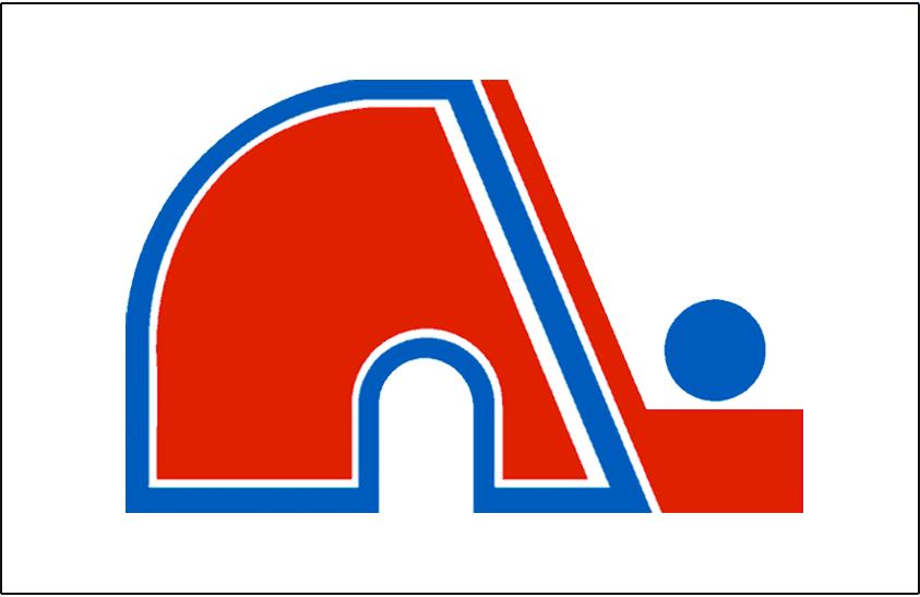 Quebec Nordiques Logo Jersey Logo (1980/81-1994/95) - Nordiques primary logo on white, worn on Quebec home white jersey from 1980-81 through 1994-95 season SportsLogos.Net