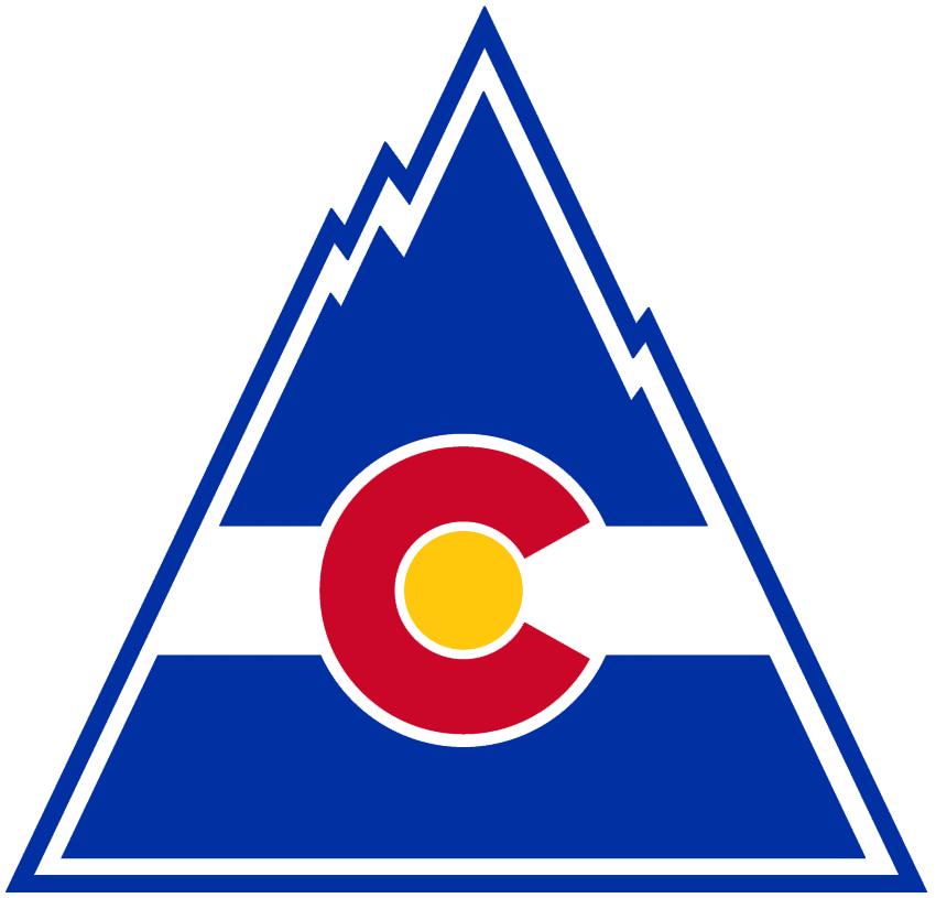 Colorado Rockies Logo Primary Logo (1976/77-1981/82) - Colorado state flag drawn into the shape of a mountain SportsLogos.Net