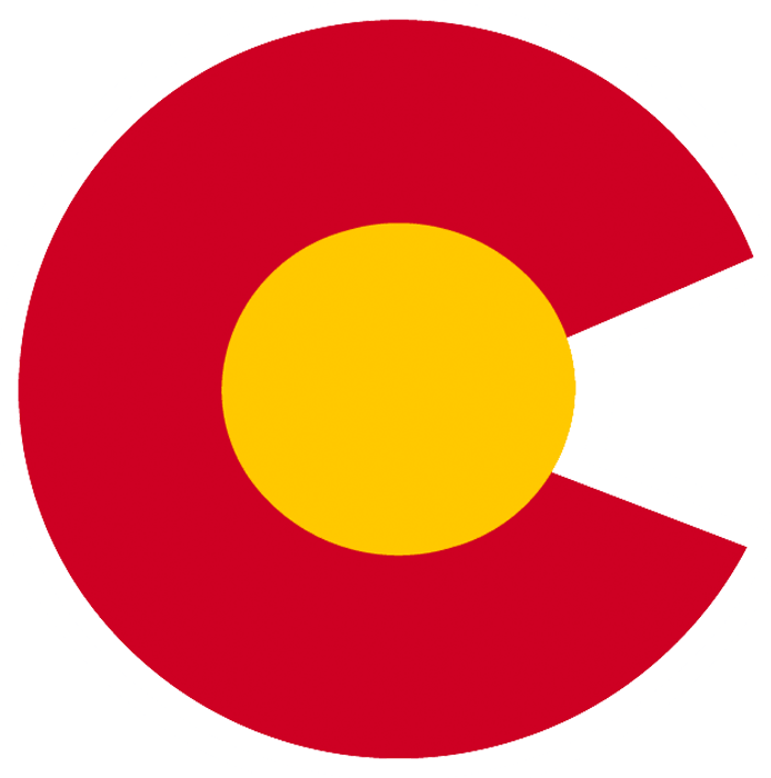Colorado Rockies Logo Alternate Logo (1976/77-1981/82) - A red C with yellow core, taken directly from the state flag of Colorado and worn on the shoulders of the Colorado Rockies home jersey during their entire time playing in Denver SportsLogos.Net