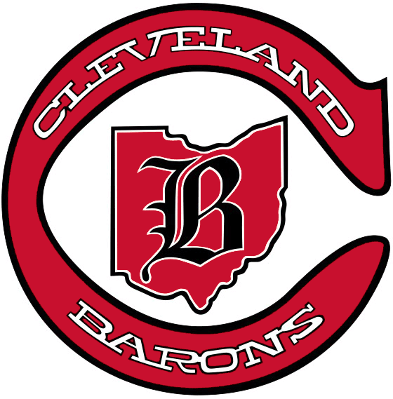 Cleveland Barons Logo Primary Logo (1976/77-1977/78) - The state of Ohio inside a maroon 'C' SportsLogos.Net