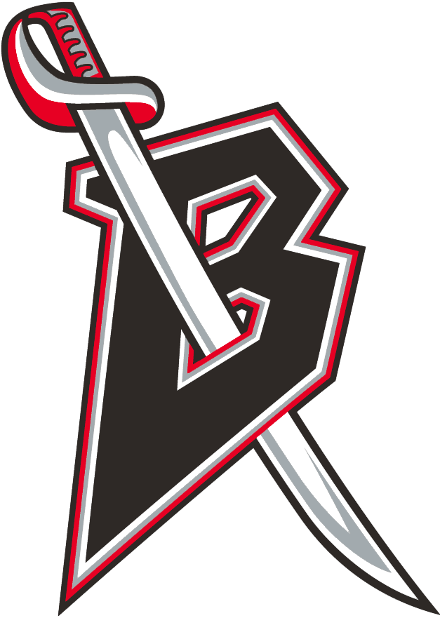 Buffalo Sabres Logo Alternate Logo (1996/97-1998/99) - A black B with a sword piercing it -- shade of red was altered for the 2000 season SportsLogos.Net