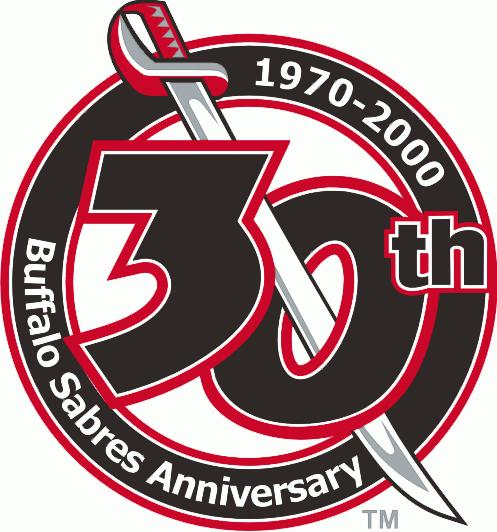 Buffalo Sabres Logo Anniversary Logo (1999/00) - 30th Anniversary of the Buffalo Sabres SportsLogos.Net