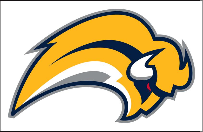 Buffalo Sabres Logo Jersey Logo (2006/07-2009/10) - Leaping yellow buffalo logo on white, worn on Buffalo Sabres road jersey from 2006-07 through 2009-10 SportsLogos.Net