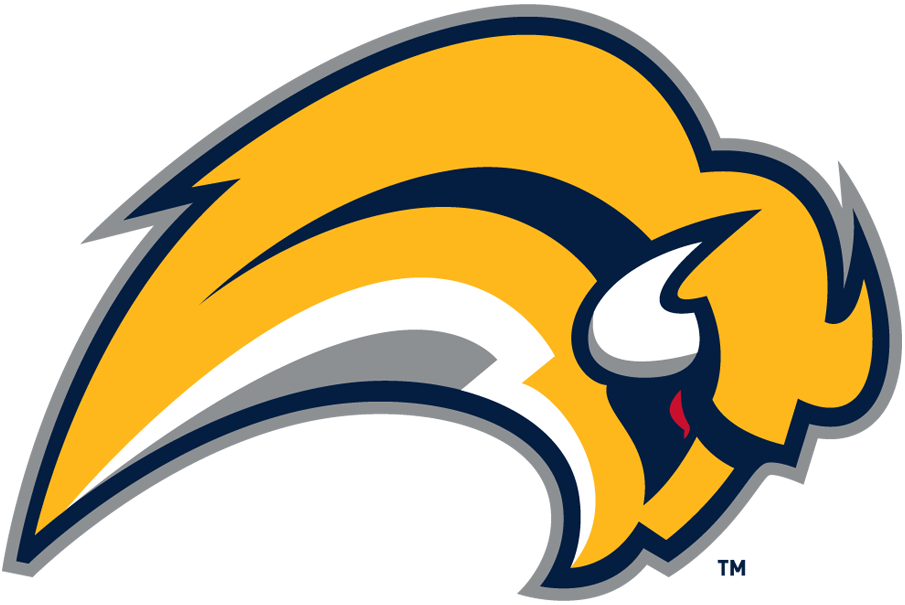 Buffalo Sabres Logo Primary Logo (2006/07-2009/10) - A yellow buffalo with a red eye leaping SportsLogos.Net