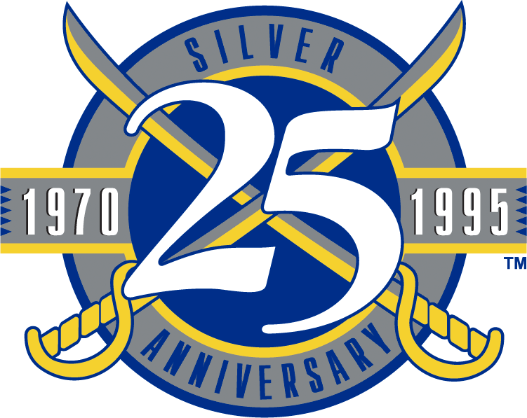 Buffalo Sabres Logo Anniversary Logo (1994/95) - 25th Anniversary of the Buffalo Sabres SportsLogos.Net