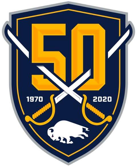 Buffalo Sabres Logo Anniversary Logo (2019/20) - Buffalo Sabres 50th anniversary logo SportsLogos.Net