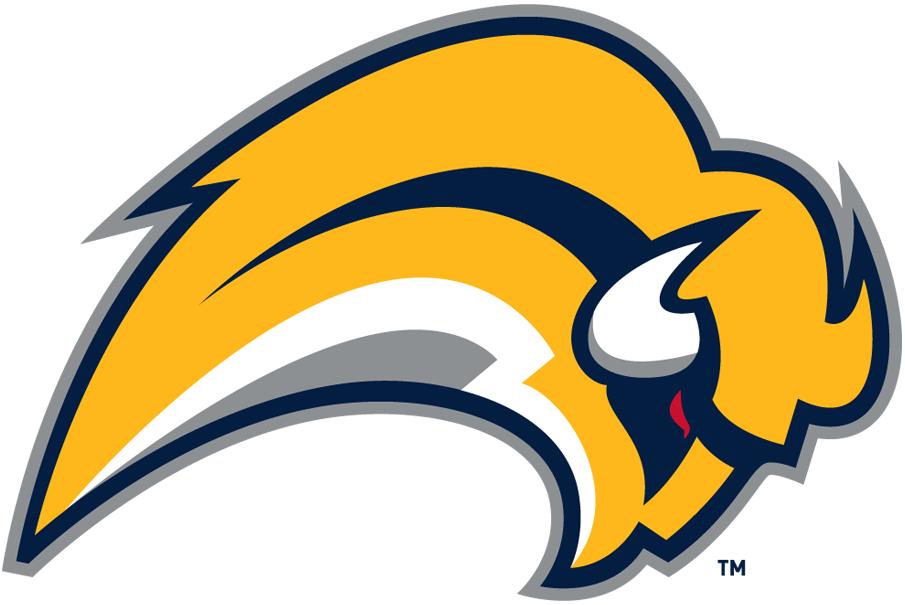 Buffalo Sabres Logo Alternate Logo (2010/11) - A yellow buffalo with a red eye leaping SportsLogos.Net