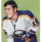 Buffalo Sabres (1972) Ron Anderson wearing Buffalo Sabres home white uniform during the 1971/72 season