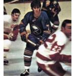 Buffalo Sabres (1973) Richard Martin wearing Buffalo Sabres road blue uniform during the 1972/73 season