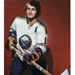 Buffalo Sabres (1973) Gilbert Perreault wearing Buffalo Sabres home white uniform during the 1972/73 season