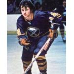 Buffalo Sabres (1975) Rene Robert wearing Buffalo Sabres road blue uniform during the 1974/75 season