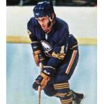 Buffalo Sabres (1975) Craig Ramsay wearing Buffalo Sabres road blue uniform during the 1974/75 season
