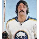 Buffalo Sabres (1976) Jocelyn Guevremont wearing Buffalo Sabres home white uniform during the 1975/76 season