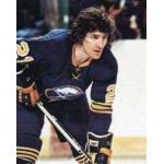 Buffalo Sabres (1977) Brian Spencer wearing Buffalo Sabres road blue uniform during the 1976/77 season