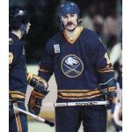 Buffalo Sabres (1980) Gilbert Perreault wearing Buffalo Sabres road blue uniform with Lake Placid 1980 Winter Olympics patch during the 1979/80 season